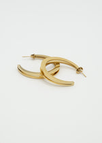 Eclipse 18K Gold Plated Open Hoop Earrings