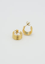 City 18K Gold Plated Mini Earrings