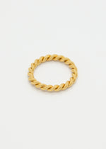 Spiral 18K Gold Plated Ring