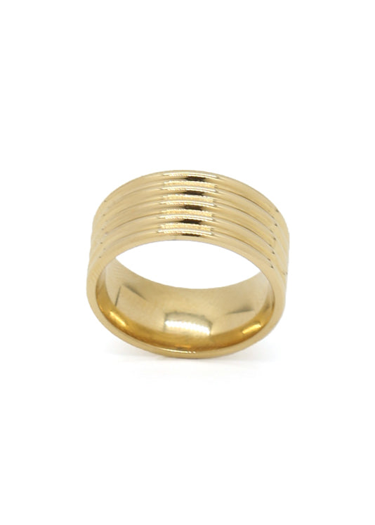 City 14K Gold Plated Ring