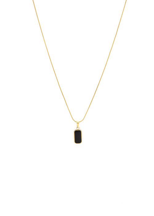 Split 18k Gold Double Sided Pendant Necklace