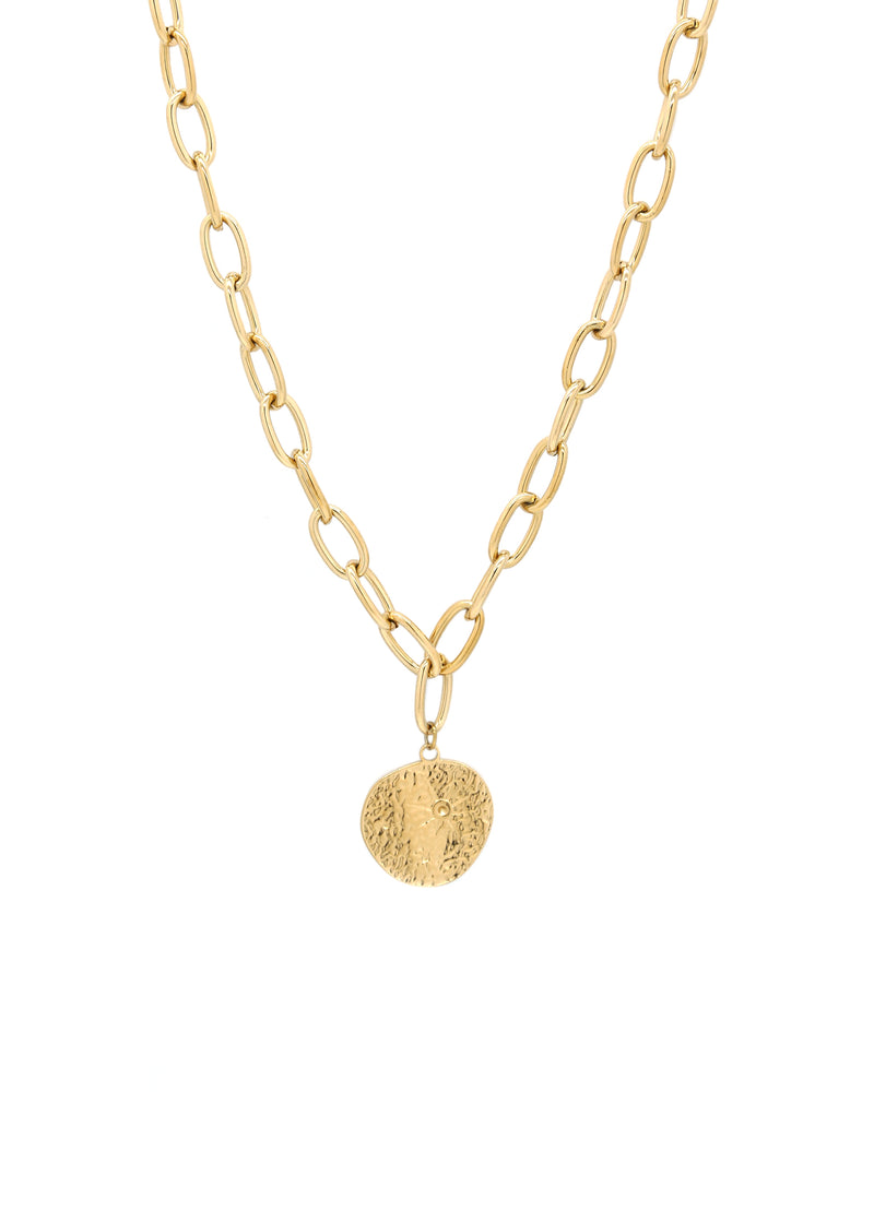 Star Gaze 14K Gold Plated Pendant Necklace