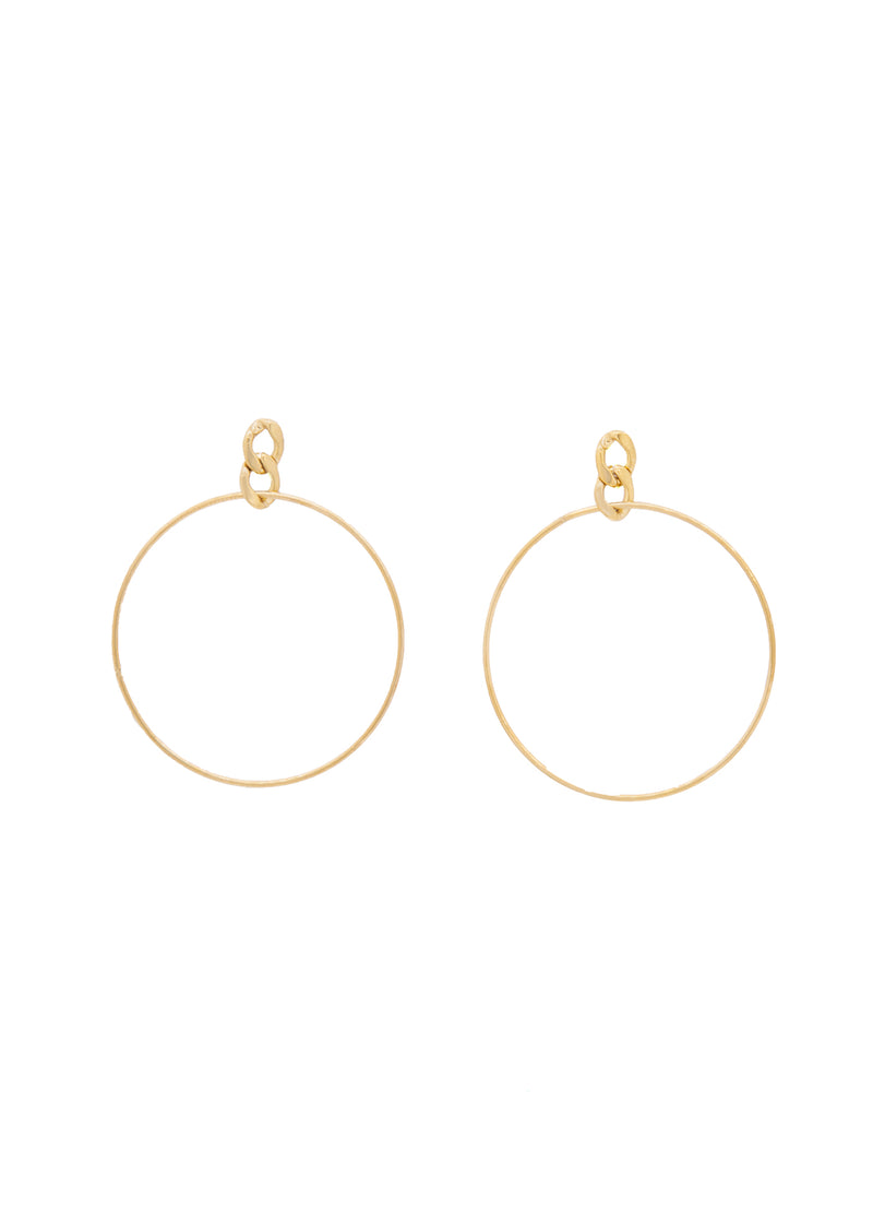Swivel 14K Gold Plated Hoop Earrings