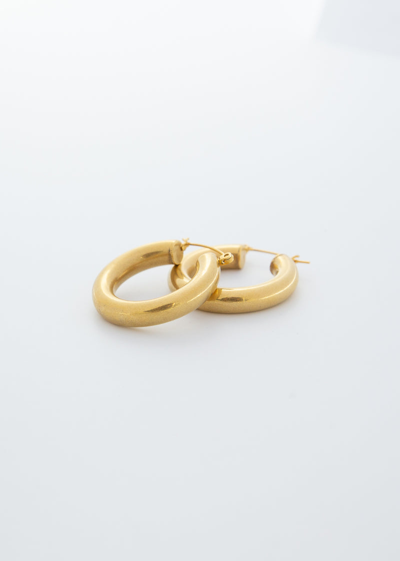 Hollow Bold 18K Gold Plated Hoop Earrings