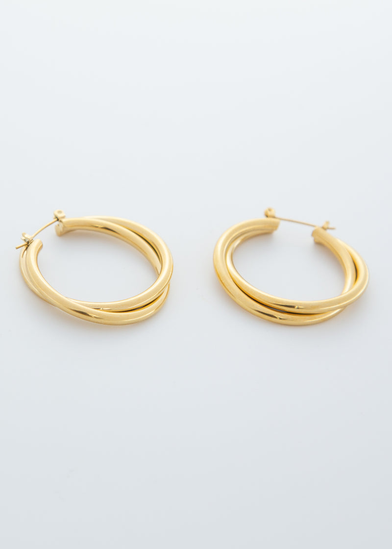 Twine Hoop 18K Gold Plated Earrings