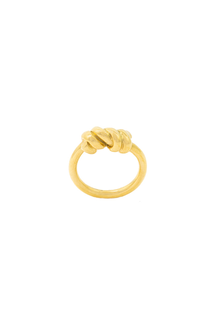Barbed 18K Gold Plated Ring
