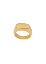 Royal 18K Gold Plated Thick Signet Ring