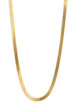 Herringbone 18K Gold Plated Chain Necklace