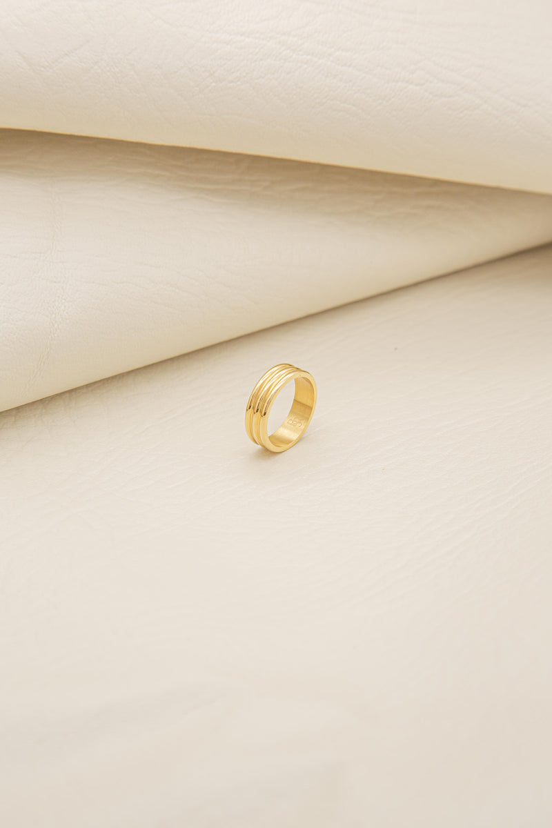 Thin City 18K Gold Plated Ring