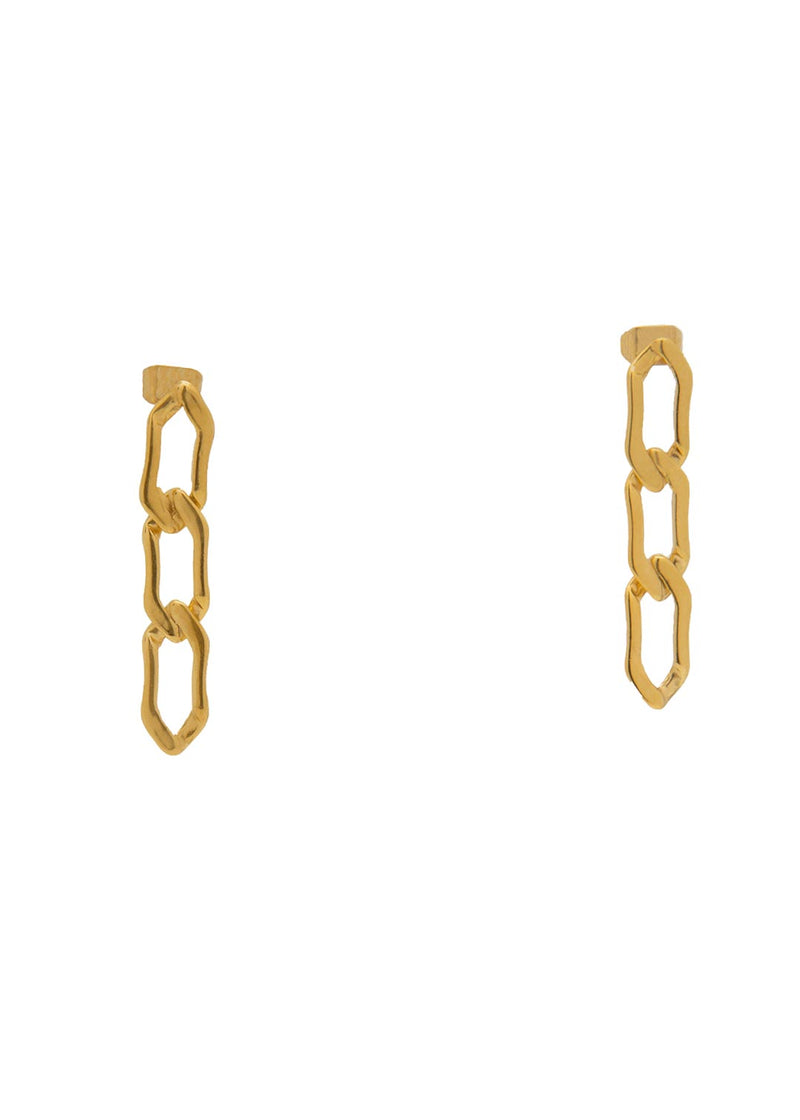 Figaro 18k Gold Plated Chain earrings