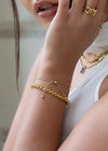 Twin Snake 18K Gold Plated Bracelet