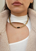 Thick Curb 18K Gold Plated Chain Necklace