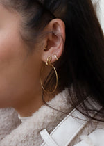 Mini shell 18k Gold Huggie Earrings