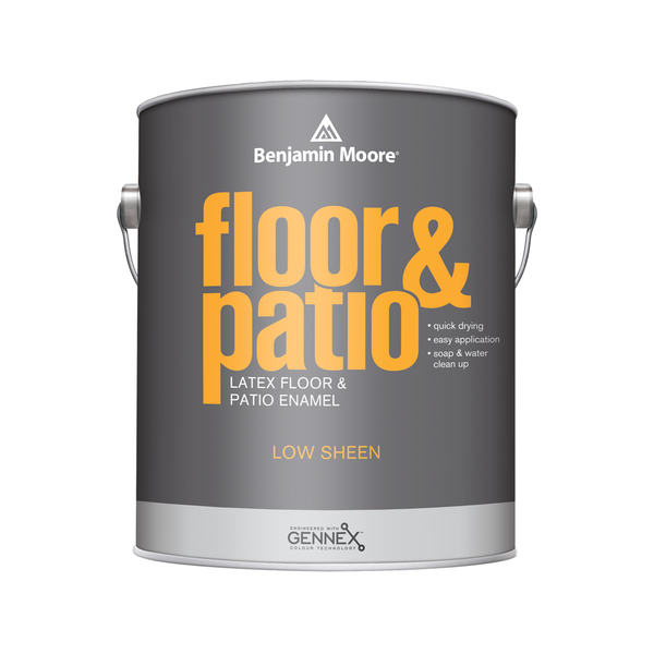 Floor & Patio Enamel - White and Platinum Gray