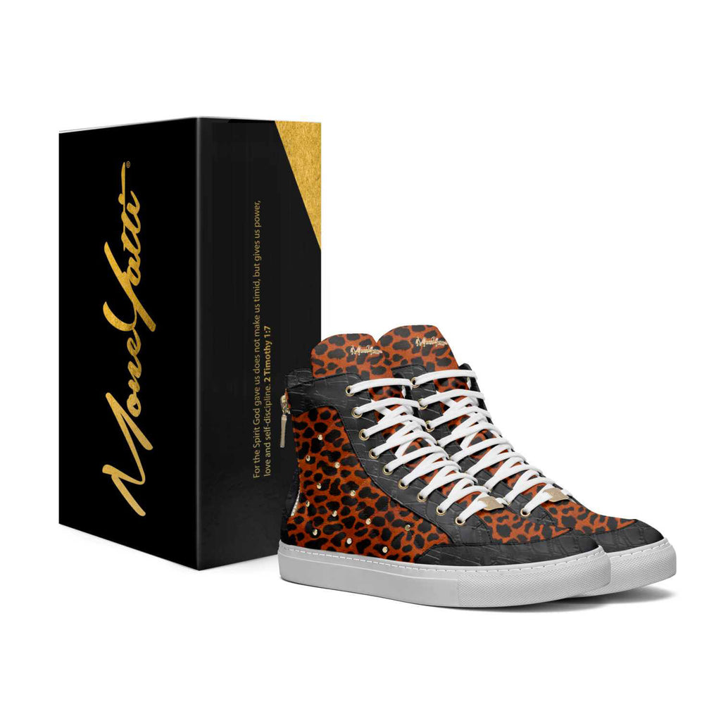LIMITED - ORANGE CHEETAH AND BLACK