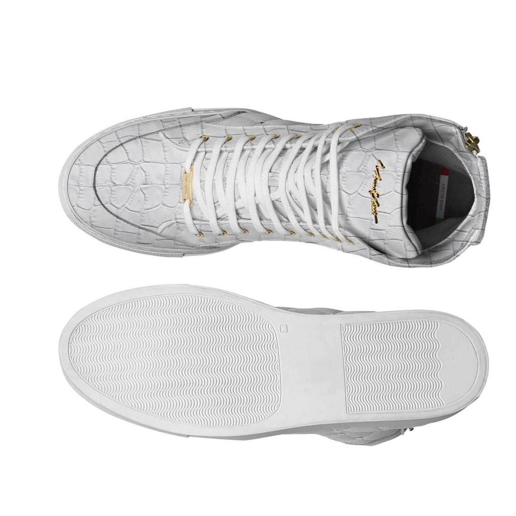 LIMITED - ALL WHITE CROC SUEDE