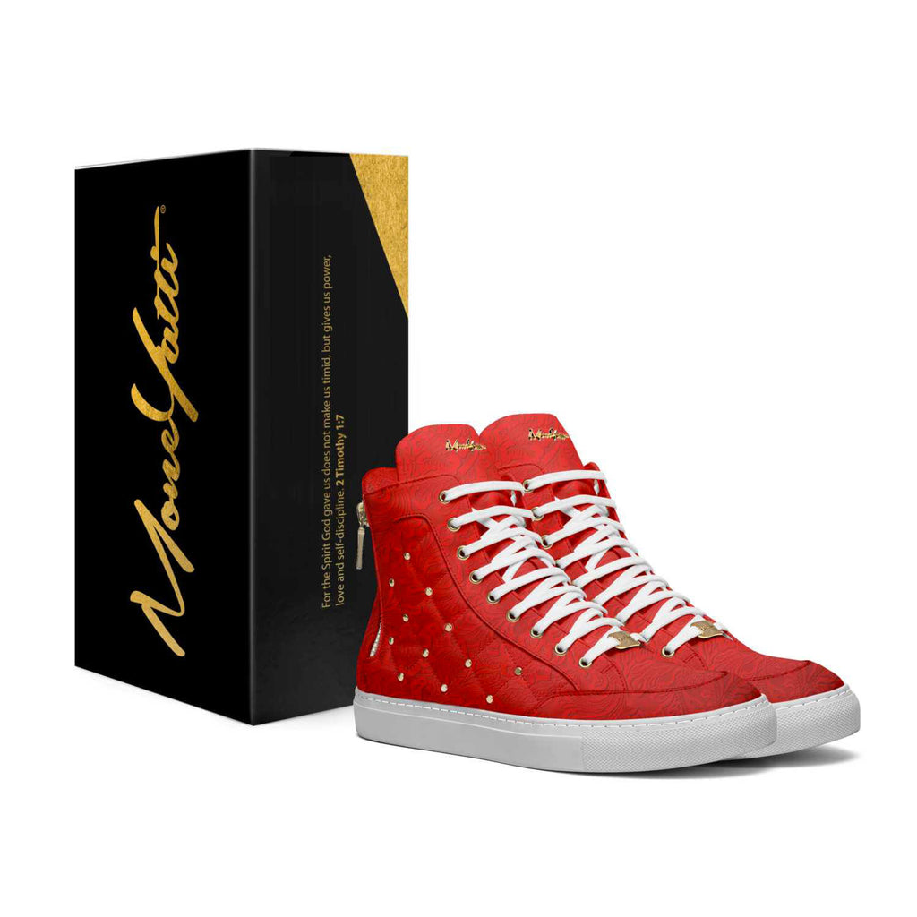 LIMITED - EMBOSSED RED LEATHER