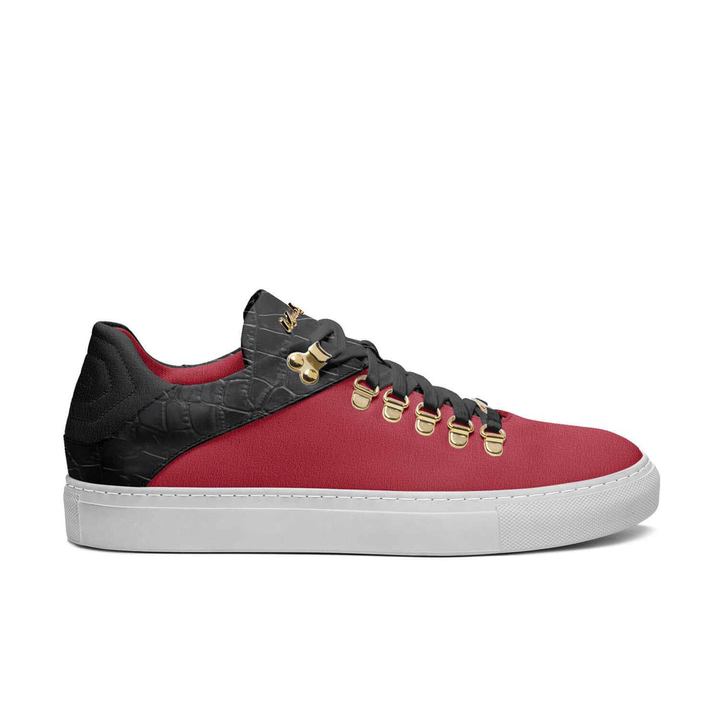 DRIP WALKERS - RED SUEDE BLACK