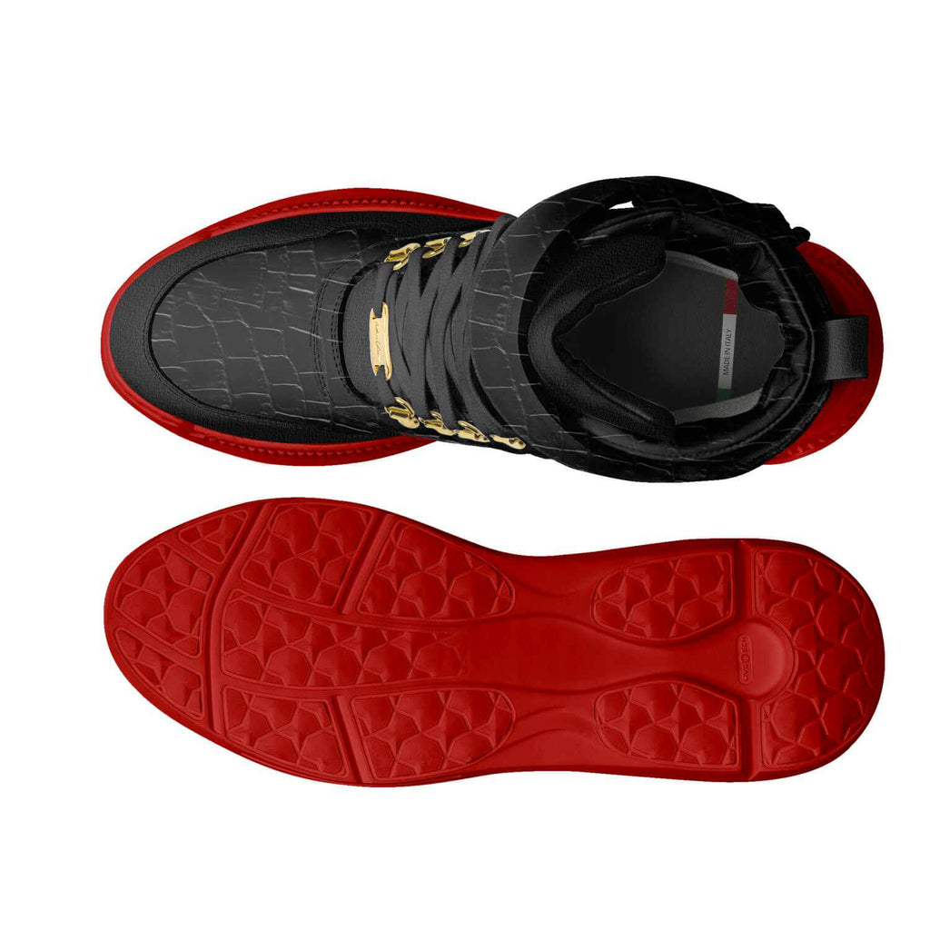 TRAPS - BLACK CROCS RED BOTTOMS
