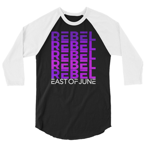 Rebel 3/4 sleeve raglan shirt