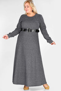 Women's Oversize Belted Patterned Dress