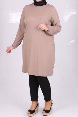 Women's Oversize Mink Combed Cotton Tunic