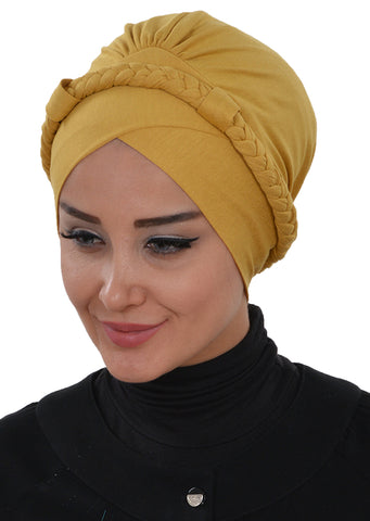 Women's Braided Combed Cotton Bonnet