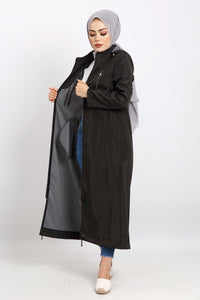 Women's Long Black Trenchcoat