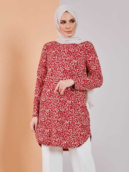 Women's Floral Pattern Modest Tunic