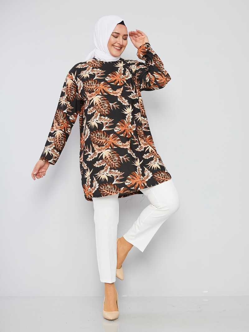 Women's Oversize Patterned Modest Tunic