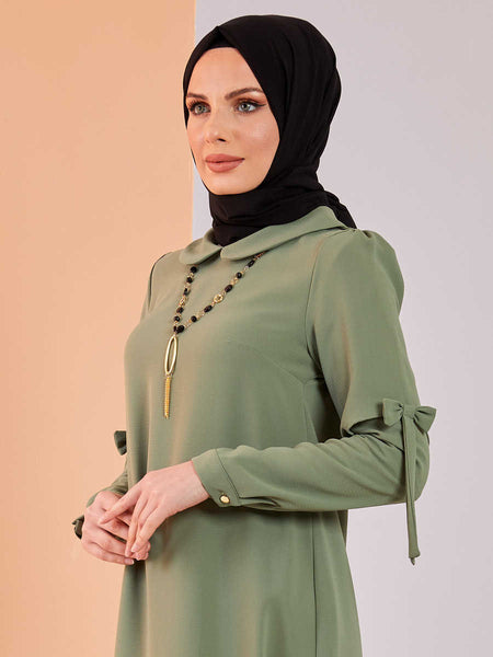 Women's Necklace Accessory Khaki Modest Tunic