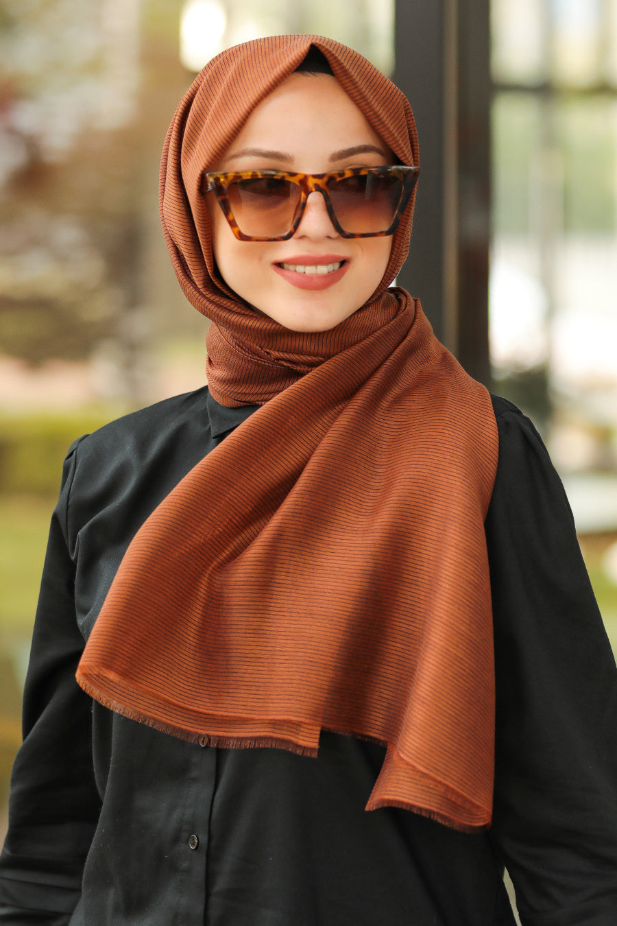 Women's Ginger Chiffon Shawl