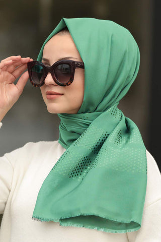 Women's Patterned Almond Green Shawl