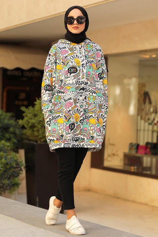 Women's Patterned Modest Sweatshirt