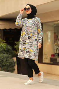 Women's Patterned Modest Tunic