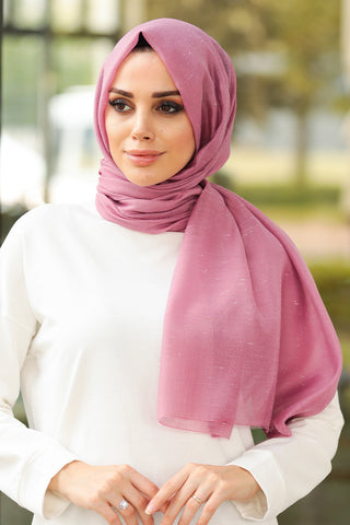 Women's Dusty Rose Chiffon Shawl