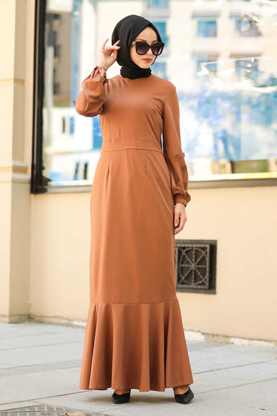 Women's Sleeve Detail Ginger Modest Dress