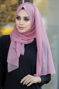 Women's Glitter Dusty Rose Chiffon Shawl
