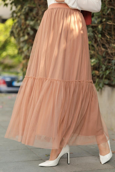 Women's Tulle Modest Long Skirt