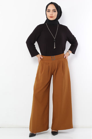 Women's Pleated Ginger Wide Legs Pants