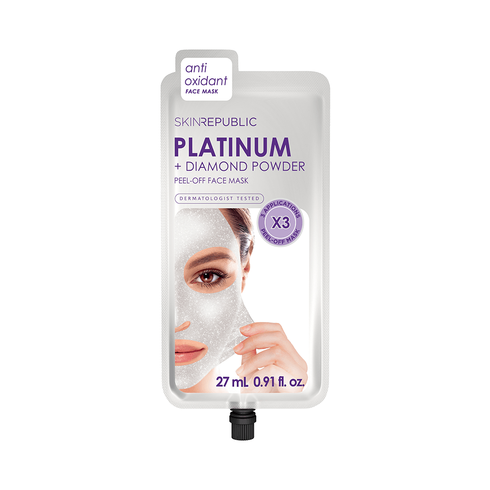 Platinum + Diamond Powder Peel-Off-Gesichtsmaske mit Platin- und Diamantpulver SKIN REPUBLIC