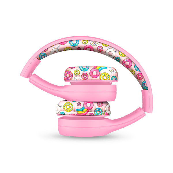LilGadgets Connect+ Style Children's Wired Headphones - Pink Doughnuts