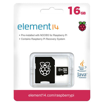 16GB MicroSD Card, Preloaded with NOOBS (V2) OS Installer for Raspberry Pi