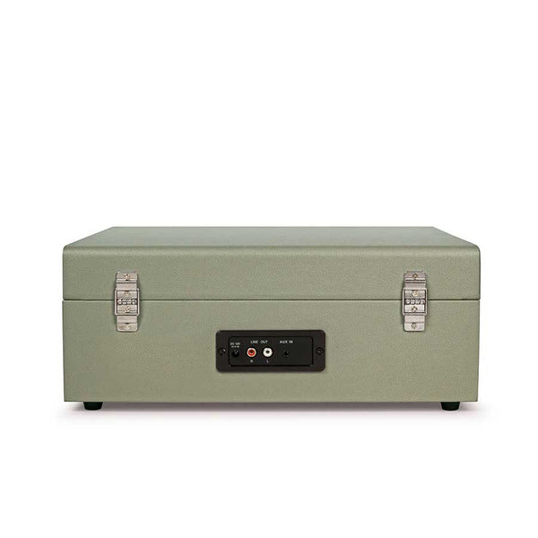 Crosley Voyager Portable Turntable - Sage + Bundled Record Storage Crate