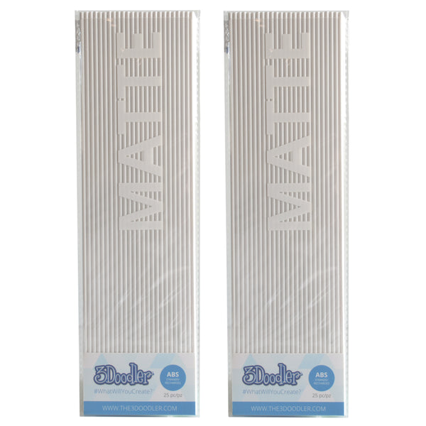3Doodler Create ABS Plastic Polar White-2pack