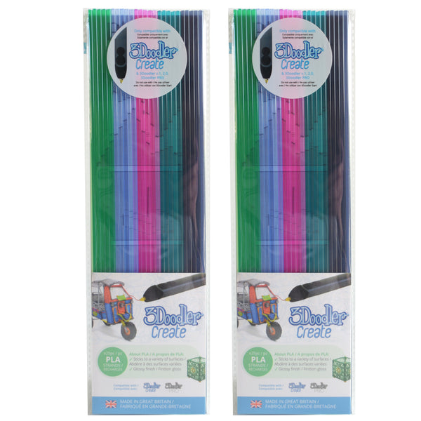 3Doodler Create PLA Plastic Clearly Springtime-2pack