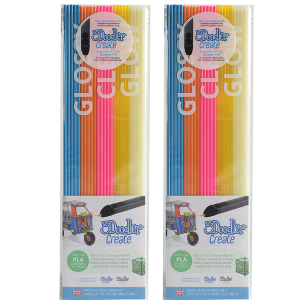 3Doodler Create PLA Plastic Boogie Nights-2pack