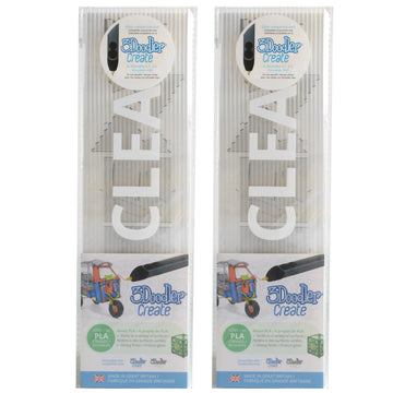 3Doodler Create PLA Plastic Clearly Clear-2pack