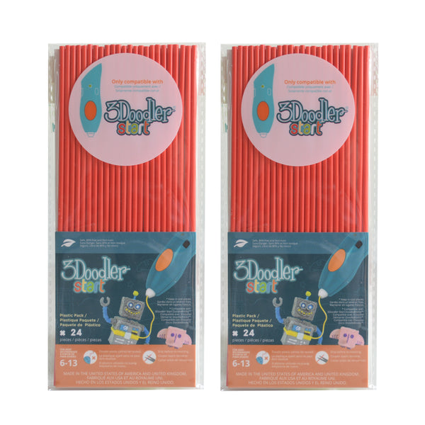 3Doodler Start Eco-Plastic-Cherry Red-2pack
