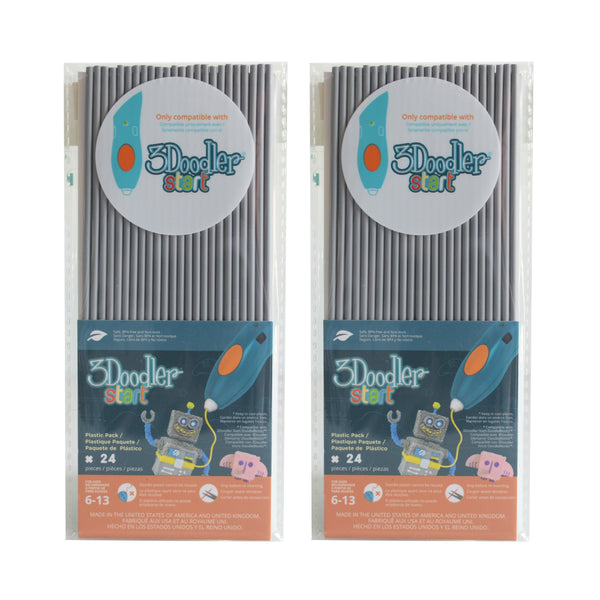 3Doodler Start Eco-Plastic-Koala Grey-2pack